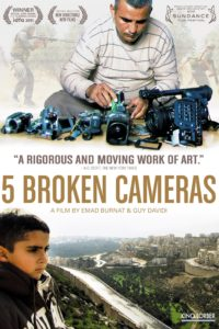 "Poster for the movie ""Five Broken Cameras"""