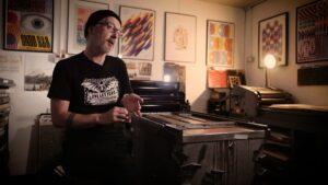 Printmaker Nick Loaring creates new work for Northern Print - Vimeo thumbnail